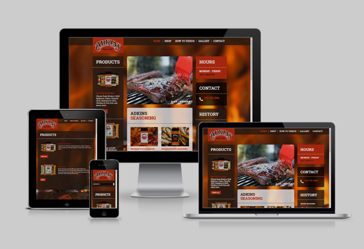 Adkins Seasoning Web Site Design by Troy Lawrence