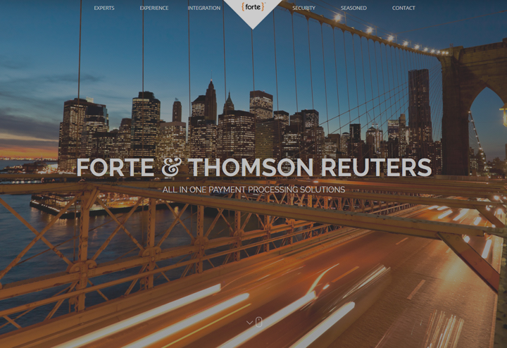 Forte and Thomson Reuters Web Design by Troy Lawrence